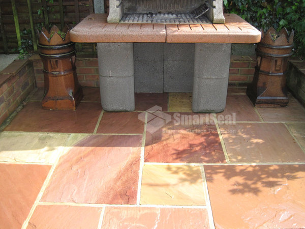 Indian sandstone just cleaned amazing transformation!