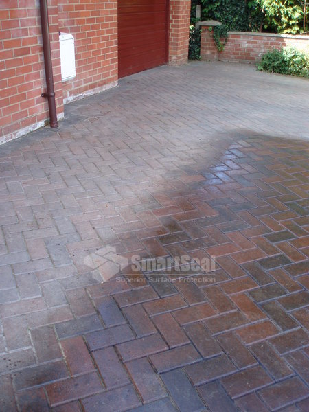 Part sealed block pavers shows great colour enhancement